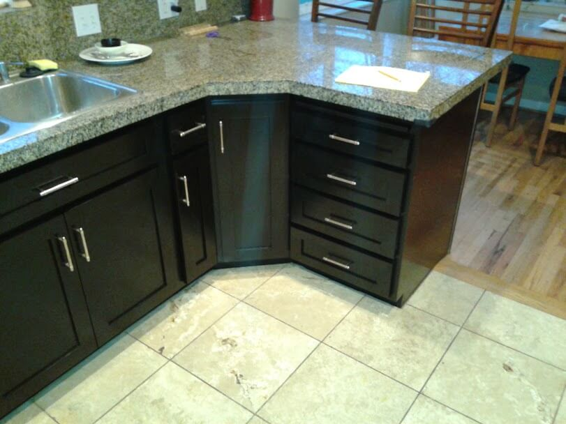 black cabinets after cabinet refinishing in draper ut