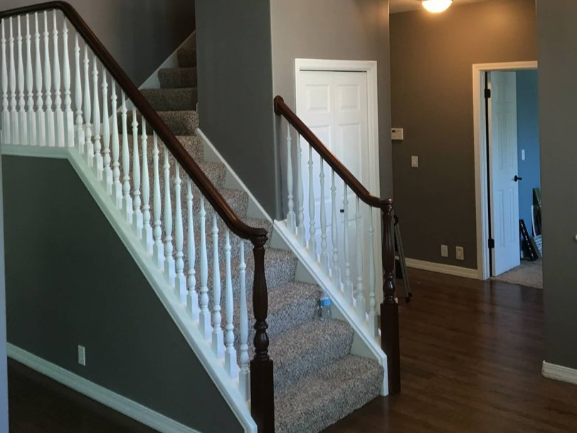 black railing after banister refinishing in salt lake city ut