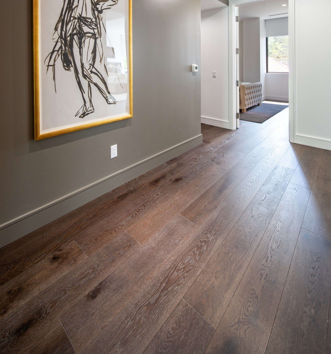 dark wood floors in draper ut home