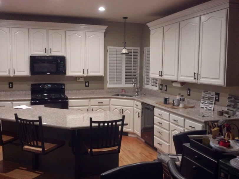 white cabinets after cabinet refinishing in sandy ut