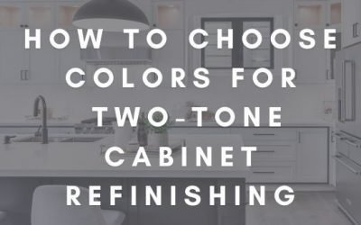 How to Choose Colors for Two-Tone Cabinet Refinishing