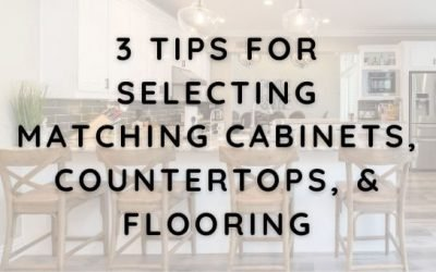 3 Tips for Selecting Matching Cabinets, Countertops, and Flooring