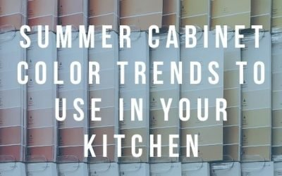 Summer Cabinet Color Trends to Use in Your Kitchen